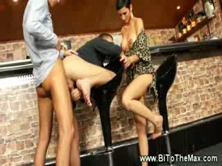 Bi Sexual guy gets his Booty fucking drilled in a bar