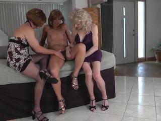 crossdresser, trio, amateur