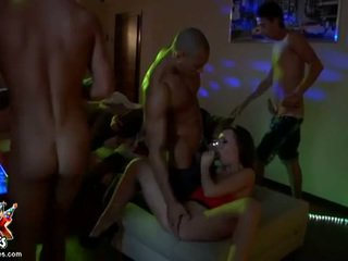 brünette, gruppe ficken, gruppen-sex