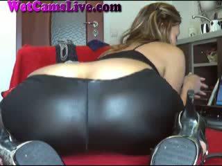 webcam, orgasm, leather