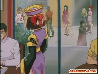 Manga prisoner meitene uz chains gets fucked līdz a knight uz leju uz the vergs chamber