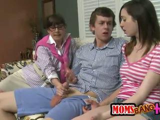 sesso di gruppo online, trans, bello terzetto