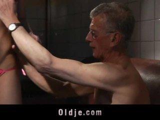 Old Man Is Assfucking Teen In The Bathroom