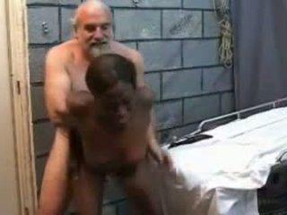 Older White Guy Fucks Young Black Girl, Porn c4