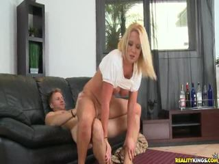 Tarra Rides This Dong And Has Her Pussy Bonked From Behind.