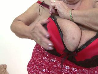 große brüste, grannies, reift