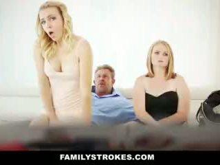 Familystrokes - 엿 나의 단계 bro 에 영화 밤