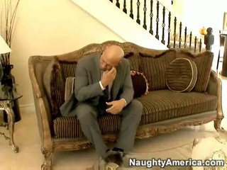 Long haired hottie masturbating and fucking guest