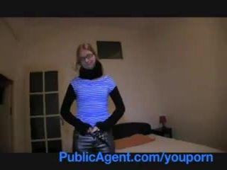 PublicAgent Blonde college girl fucks me at her student apartment