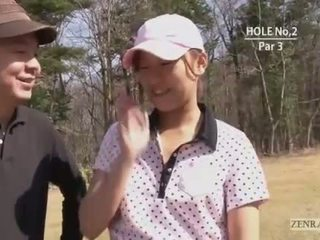Japonesa golf ao ar livre bottomless mini-saia broche penalty redondo