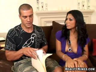 Hot Naked Latina Girl Sucking Big Dick Video