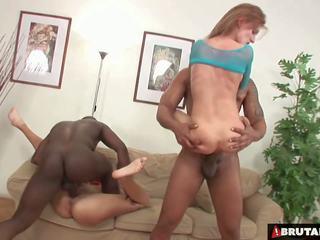 Brutalclips - מפלצת cocks rip שני שלה holes: הגדרה גבוהה פורנו bc