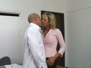 Sophia swallowing cum for some salary raise