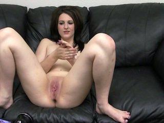 brunette, schattig, neuken