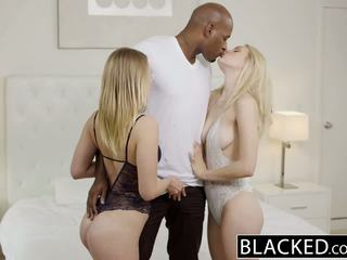 Blacked alli rae och dakota james cum på en bbc