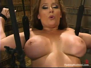 Bosomy Mom Christina Carter Has Satisfied By A Making Love Device