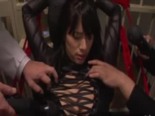Their asian prisoner seems to like her punishment for being a whore