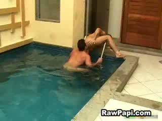 Latino men face fucking and ass rimming before wild bareback fuck