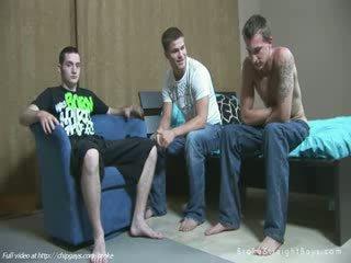 Three hot homos in orgy