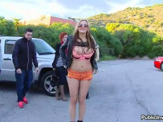 Euro slut Candy Alexa banged in public