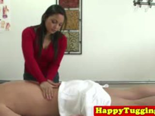 Real Asian Masseuse Jerks Customer And Gives Happy Ending