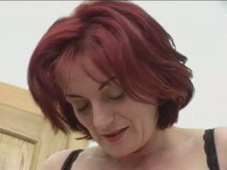 Redhead Granny-Beauty Anal On Stairs