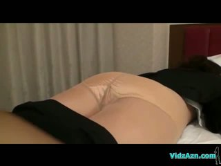 Busty Girl In Pantyhose Getting Undressed While Sleeping Pussy Licked And Fingered On The Bed