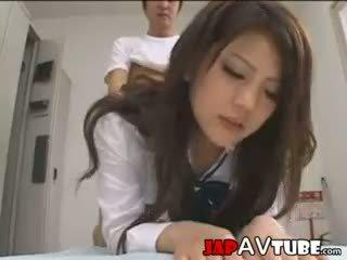 जपानीस स्कूलगर्ल और उनके janitor