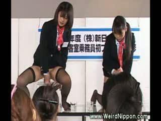 Weird japanese cock sucking demonstration