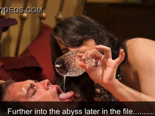 Femdom rīšana treniņš - sperma eating hypnosis