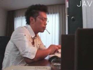 일본의, 큰 가슴, 운지법