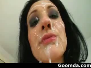 Aletta ocean différent types cumshoots à son visage 2
