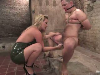 Roped And Moth Sitting In Sadism Woman Domination Vid By Blonde Nymph