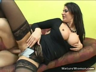 Stunning And Big Titted Black Haired M...