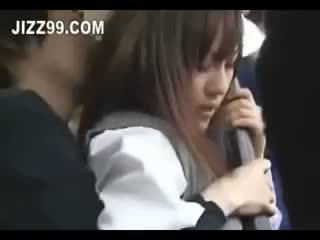 Japán diáklány beleélvezés szar tovább busz 02