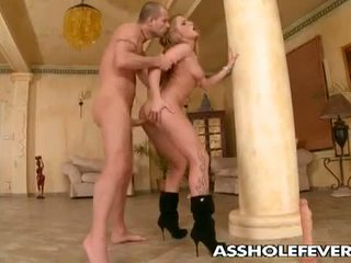 Asshole Fever: Hot blonde babe gets sweet ass drilled