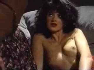 Dominique Simone lesbian with white gi...