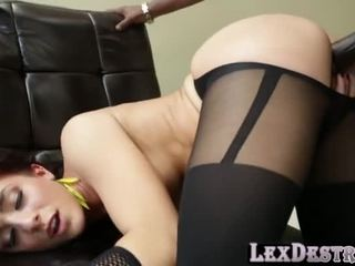 Lexingtons Big Black Cock Destroys Mischas Perfect Shaped Ass
