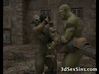 Ogres homosexual ร้อน ทรีดี ทารก!
