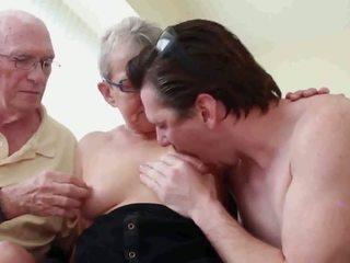 grannies, reift, ein flotter dreier