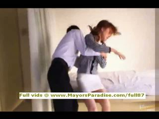 Akiho yoshizawa innocent trung quốc cô gái gets âm hộ licked