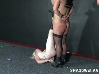Two Learner Slavegirls Explicit Needle Torture And Breast Bound Of Andrea Whilst Blonde Angel Is Pierced