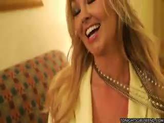 stora bröst någon, alla nylon klocka, blond ta
