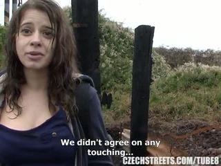 צ'כית מכללה נערה בחוץ סקס ל מזומנים