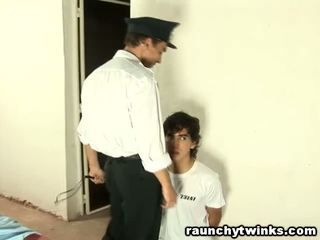 Slim tw-nk Tastes Jail Guard's Big Fat Cock