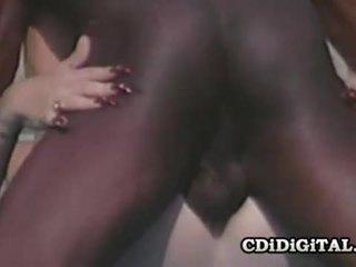 Lynn LeMay Retro Blondie Pleasing A Black Dong