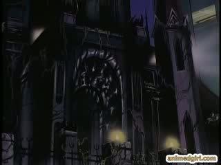 Toon meitene tied augšup uz a gynaecological krēsls un robot tentacles fucked