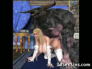 Ugly Creatures Fuck 3D Babes!