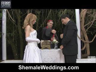 Karıştırmak arasında alessandra, am germe, senna tarafından siyah göt weddings