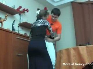 Russian Mom Caught Her Son Masterbating